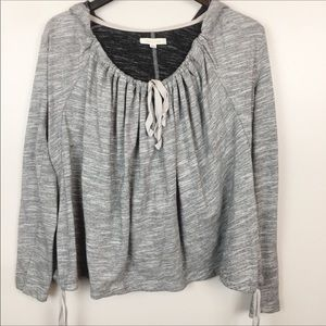 Anthropologie Pure + Good Marled Pullover Hoodie